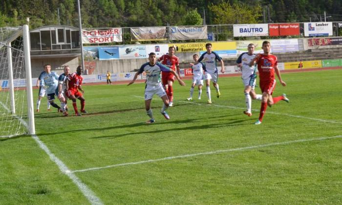 Der FC Oberwallis spielt gegen den Tabellenzweiten US Terre Sainte 1 ...