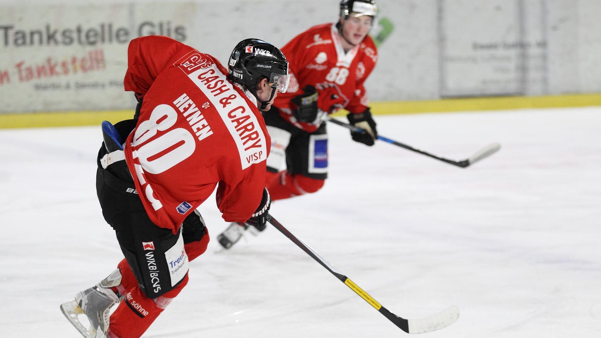 Eishockey  Magerer Lohn für starke Visper Leistung 508654e74174