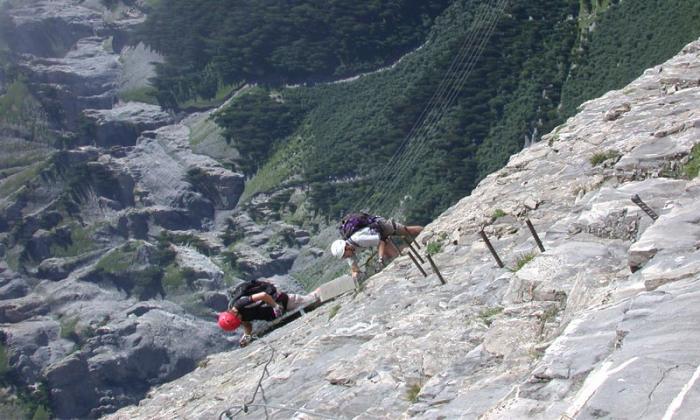 Klettersteig Leukerbad : Klettersteige daubenhorn klettersteig bergwelten