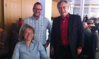 TCS-Vorstandsmitglieder am traditionellen Brisolée: Graziella Walker Salzmann, Vizepräsident Philipp Matthias Bregy und  Jodok Wyer (v.l.).