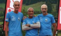 Zwei Oberwalliser Siege bei der Tour de Tirol: Remo Jordan, Anton Abgottspon und  Beat Millius (v.l.).